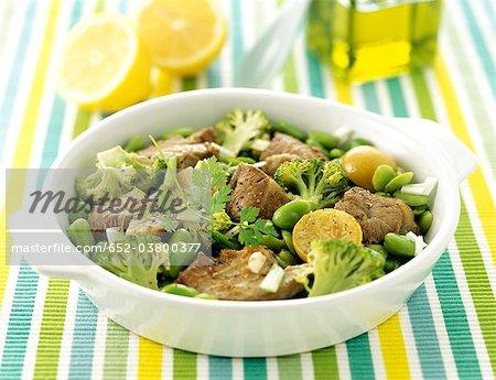 Veal sauté with confit citrus