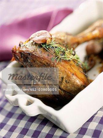 Leg of lamb with garlic