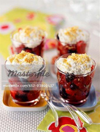 Summer fruit salad with Faisselle mousse