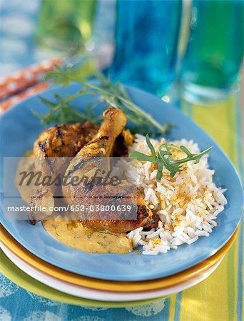 Tandoori-style grilled curry chicken