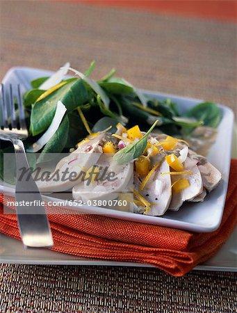 Bulgarian-style chicken salad
