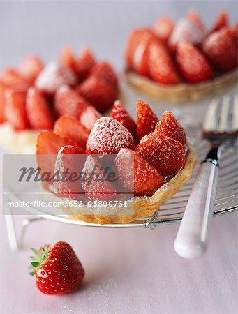 Lemon and strawberry tartlets