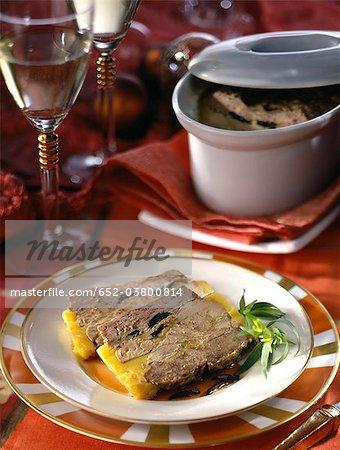 Foie gras and truffle terrine