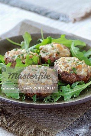 Champignons farcis de Gorgonzola