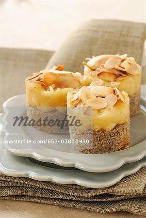 Blé noir et pommes caramélisées avec les petits gâteaux du Calvados