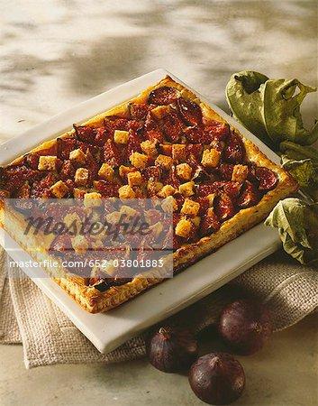 Fig et tarte au pain d'épices croustillant