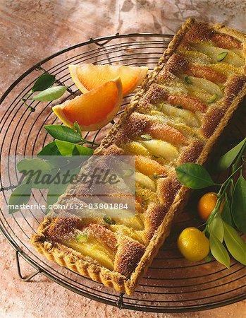 Tarte aux agrumes et poire