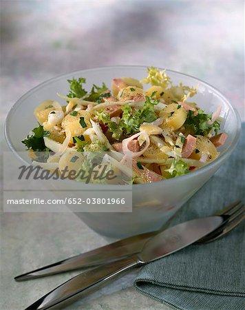 Salade de pommes de terre et jambon