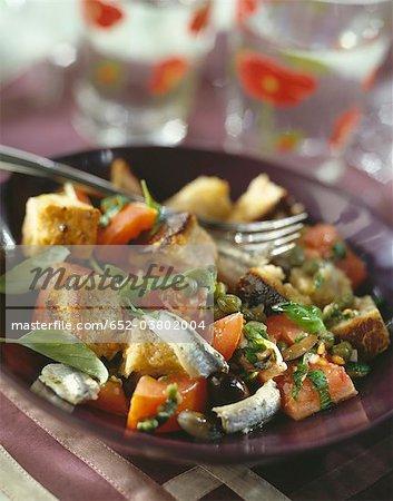Italiian salade de pain à l'ail