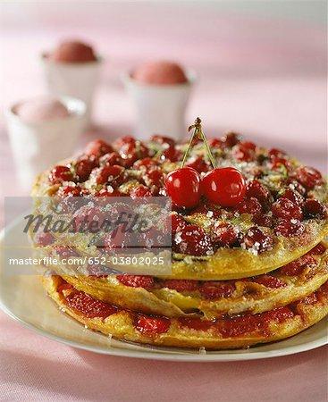 Tarte omelette aux fruits été