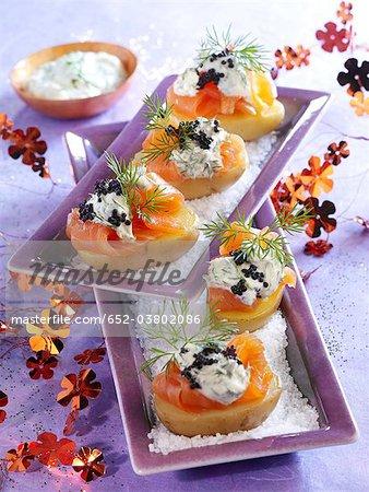 Canapés au saumon