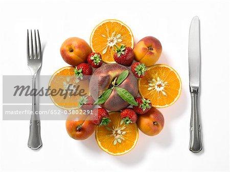 Composition avec fruits