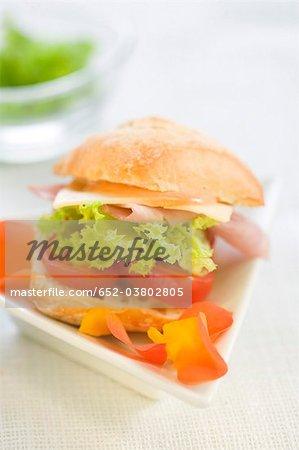 York, Emmental laitue mini sandwich jambon