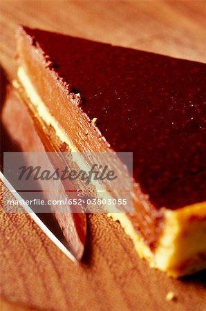 Portion de tarte au chocolat