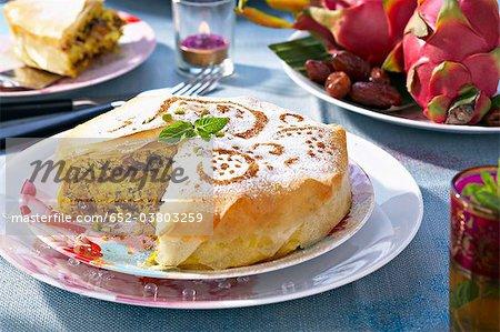 La Turquie, la date et Pastilla pistache