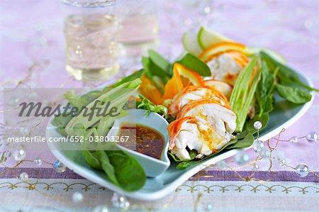 Salade de langouste sauce soja