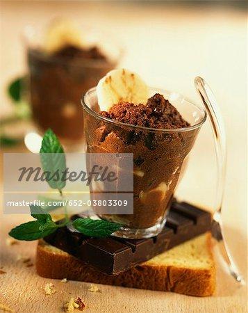 Mousse chocolat et banane épicée