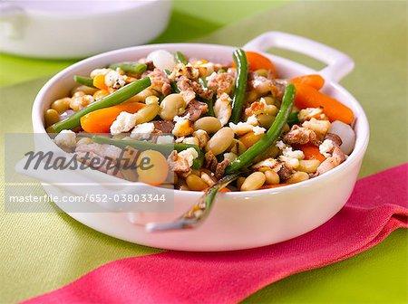 Crumble de savoureux légumes et ricotta