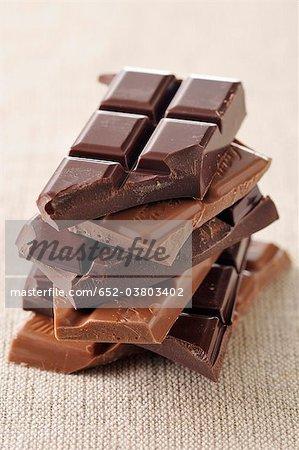 Barres de chocolat