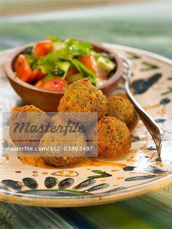 Falafels avec légumes