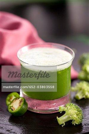 Poivron vert et smoothie brocoli