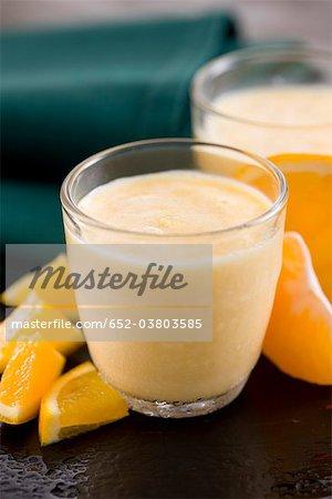 Milkshake oranage et mandarin
