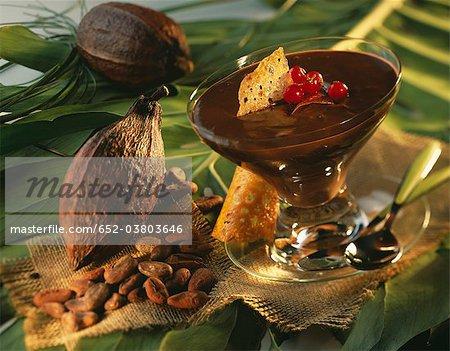 Schokolade Creme dessert