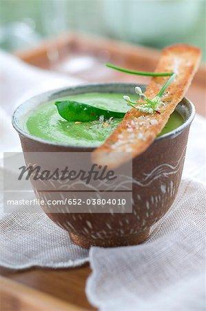 Crème de soupe aux pois