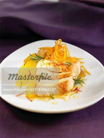 Hühnerbrust mit Orange und Safran