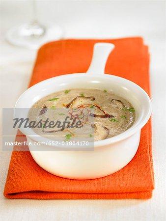 Crème de champignons shiitake