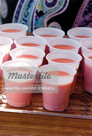 Smoothies fraise et melon d'eau