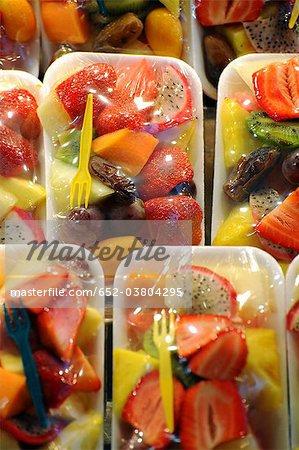 Fruits fraîchement emballées