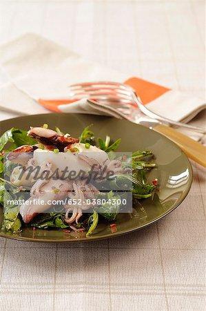 Mini Calmars farcis de pommes de terre et de fromage de chèvre