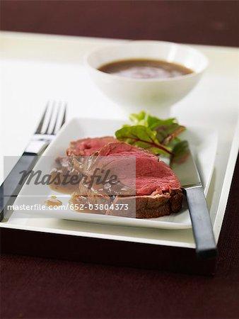 Tranches de filet de boeuf sauce Périgueux