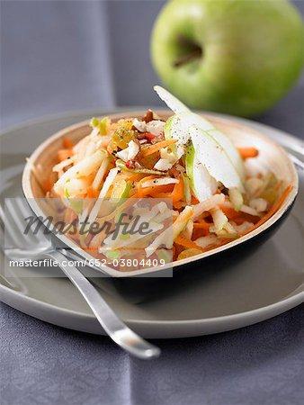 Salade de carottes et pommes râpée