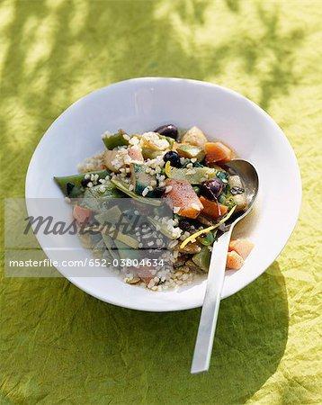 Vegetable and bulghour four spice Tajine