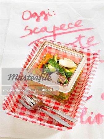 Zucchini and carrot Escabèche