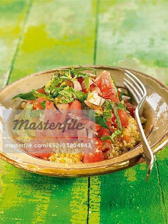 Salade de tomates et feta Bulghour