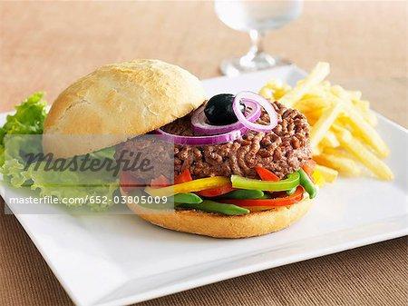 Pan bagna hamburger