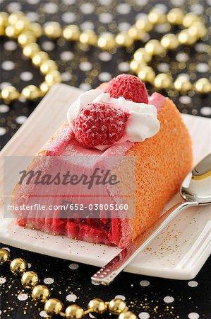 Gâteau de Noël framboise journal