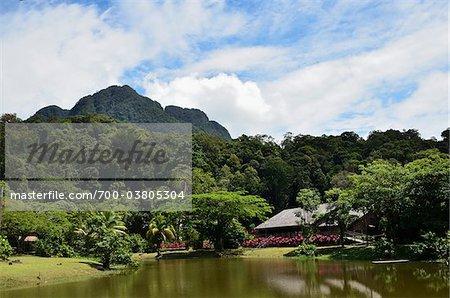 Sarawak Cultural Village, Santubong, Sarawak, à Bornéo, Malaisie