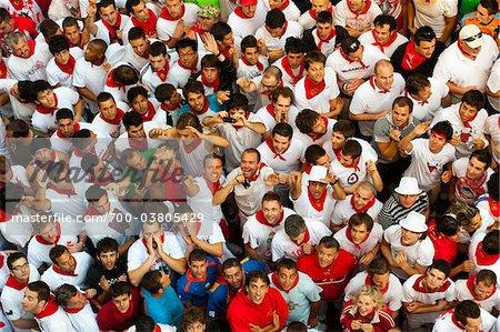 Bull-Runners, Fiesta de San Fermin, Pamplona, Navarra, Spanien