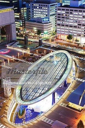 Asie, Japon. Nagoya, préfecture de Gifu, Oasis 21 allée de ciel