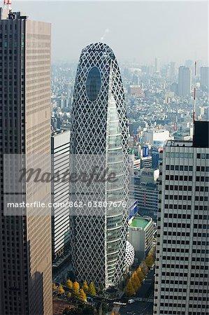 Asie, Japon, Tokyo, Shinjuku, Tokyo Mode Gakuen Cocoon Tower, bâtiment de l'école de Design
