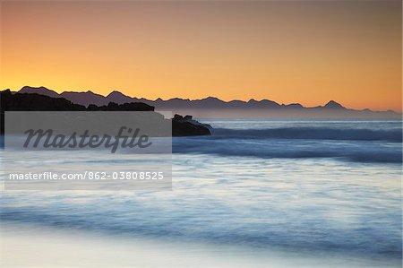 Sunrise on Plettenberg Bay beach, Western Cape, South Africa