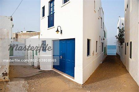 Ville de Famara dans la partie nord de l'île de Lanzarote.