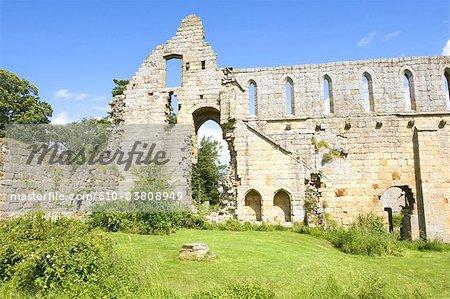England, North Yorkshire, Jervaulx abbey