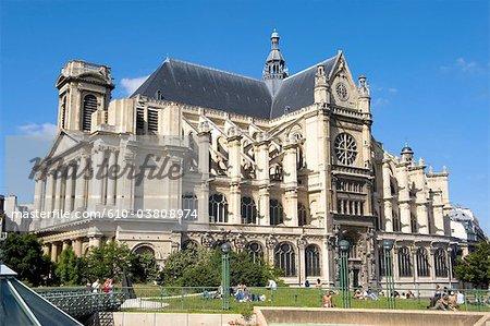 France, Paris, église Saint Eustache