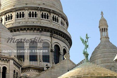 France, Paris, Montmartre, basilique du sacré cœur