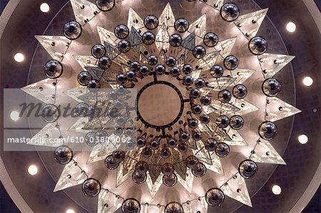 Malaisie, Kuala Lumpur, Petronas towers, plafond à la lumière de l'entrée